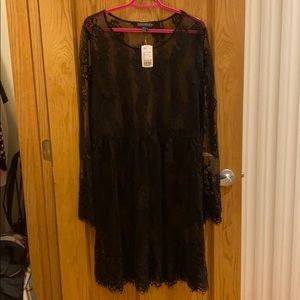 F21+ Lace Overlay Dress